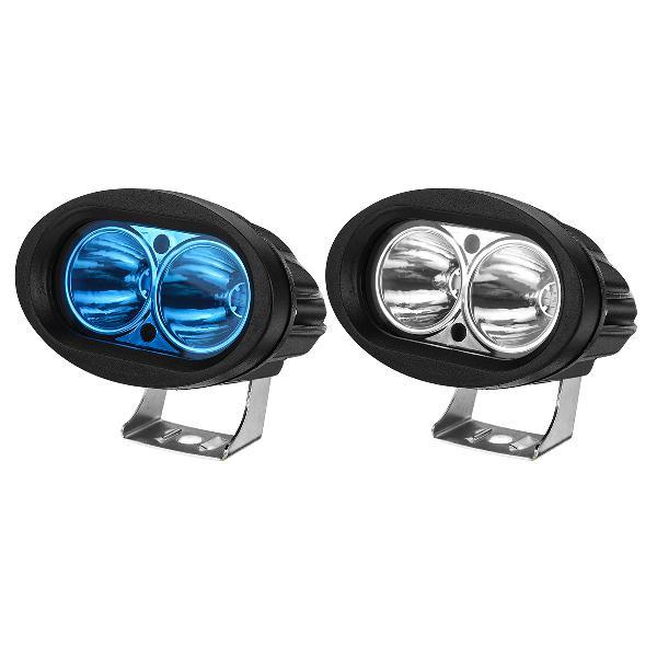 12v motorcycle oval spotlight led work light waterproof ip67