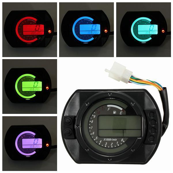 Motorcycle kmh lcd digital odometer speedometer tachometer