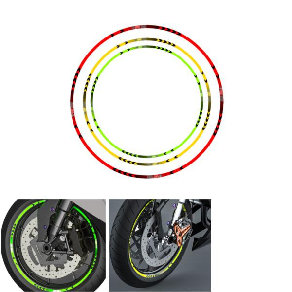 Motorcycle rim stripe wheel decals reflective tape bike car