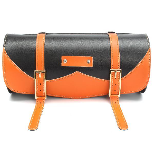 Motorcycle side saddle bag pu leather round saddle tool bag