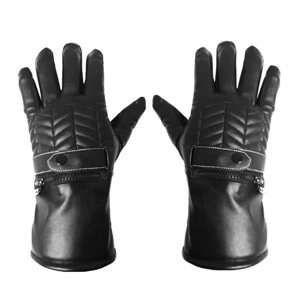 Motorcycle touch screen heated gloves rechargeable electric