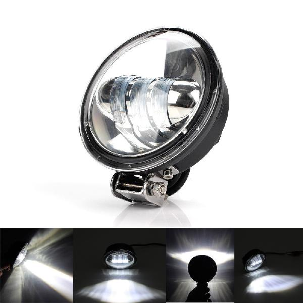 Round led work light motorcycle spot beam offroad driving