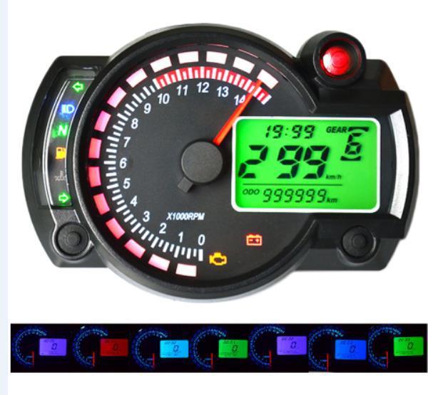 12v 15000rpm motorcycle speedometer odometer adjustable
