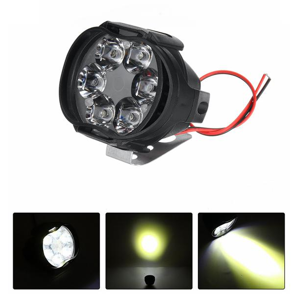 12v 8w 6led motorcycle motorbike front spot led light