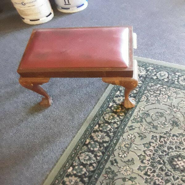 Antique ball and claw dressing table stool