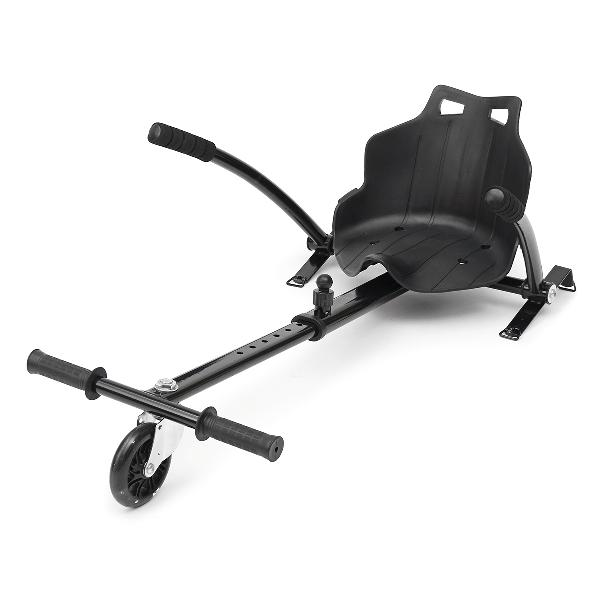 Black/white adjustable go kart hover cart holder seat stand
