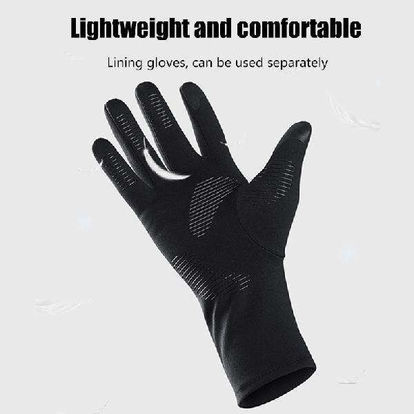 Winter motorcycle gloves warm touch screen heated gloves