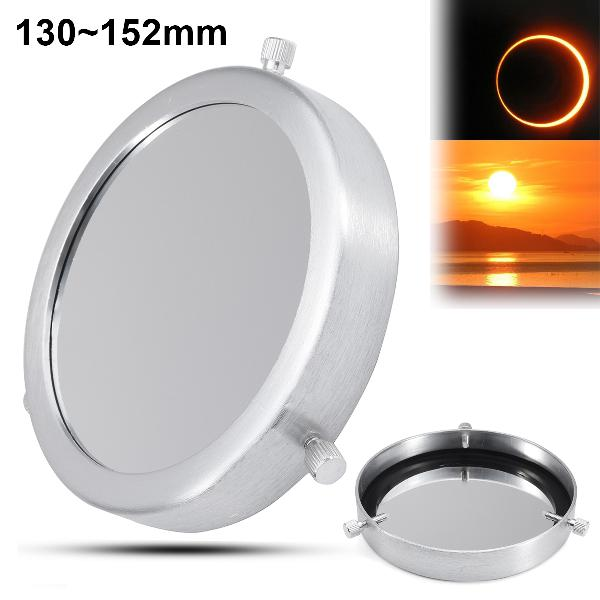 Astromania Deluxe Solar Filter 160mm Adjustable Metal Cap for Telescope Tubes with Outer Diameter 130 to 152mm Aperture 135mm Immediately Start Solar observing and Our Sun Becomes Within Reach