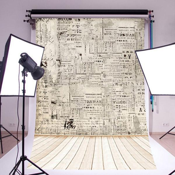 Paper wall wood floor photography backdrops