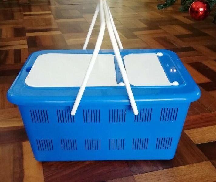 Plastic picnic baskets- new