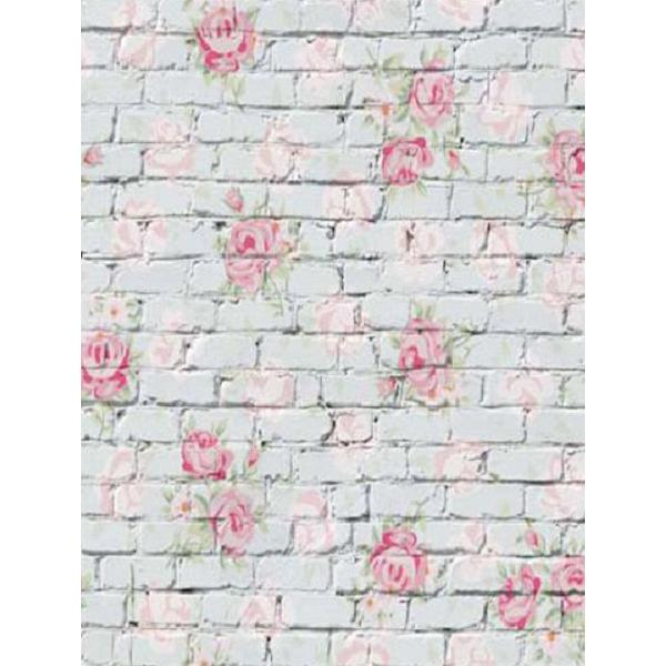 Wall flower brick photography backdrop