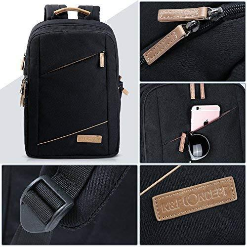 Camera backpack, k&f concept fashion dslr camera bag