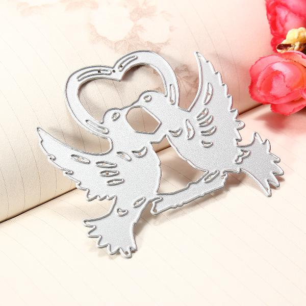 Diy love bird cutting dies stencil scrapbooking paper card