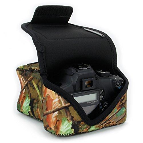 Dslr camera case/slr camera sleeve (camo woods) w/neoprene