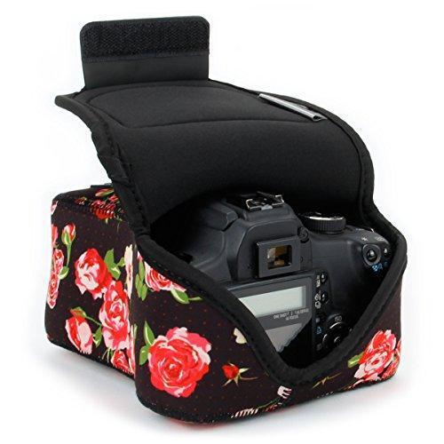 Dslr camera case/slr camera sleeve (floral) with neoprene