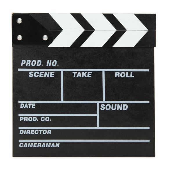 Director video scene movie clapperboard tv movie slate film