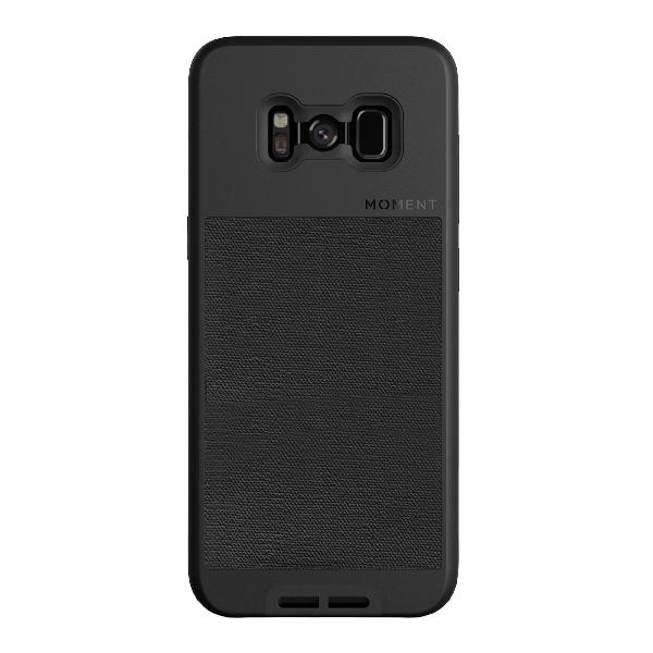 Galaxy s8 case || moment photo case in black canvas - thin,