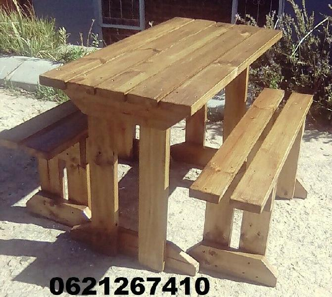 4 seater picnic table and benches