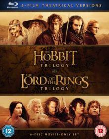 The hobbit trilogy/the lord of the rings trilogy (blu-ray