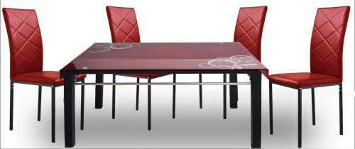 5 piece glass dining room set