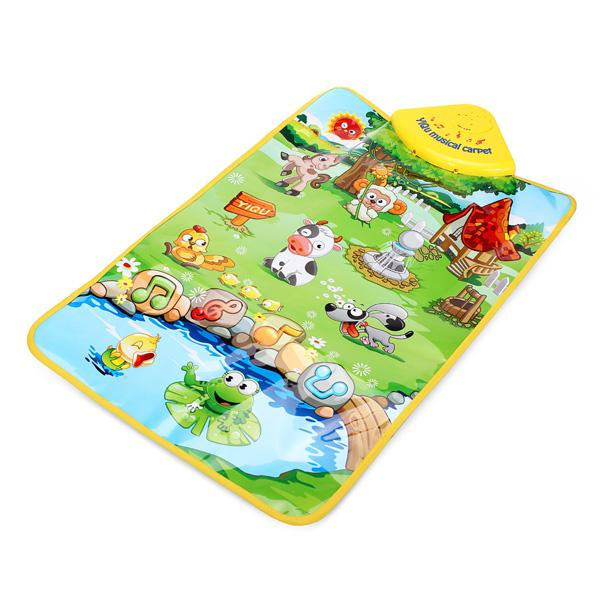 Baby animal farm musical mat touch singing carpet kids