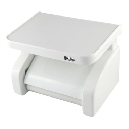 Bathlux toilet roll holder with shelf with
