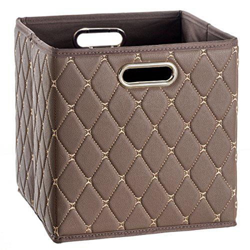 Creative scents cube storage bin faux leather - decorative