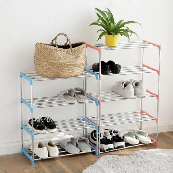 Diy shoe organizer shoe racks metal stainless steel for