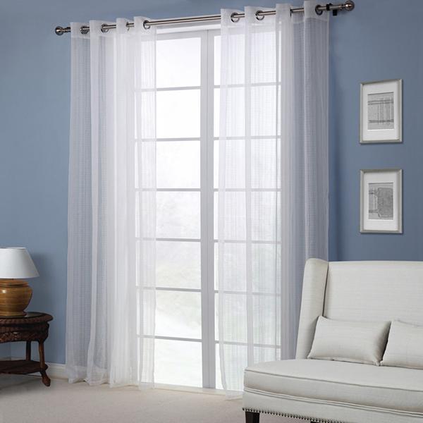 Europe style white sheer curtain bedroom living room balcony