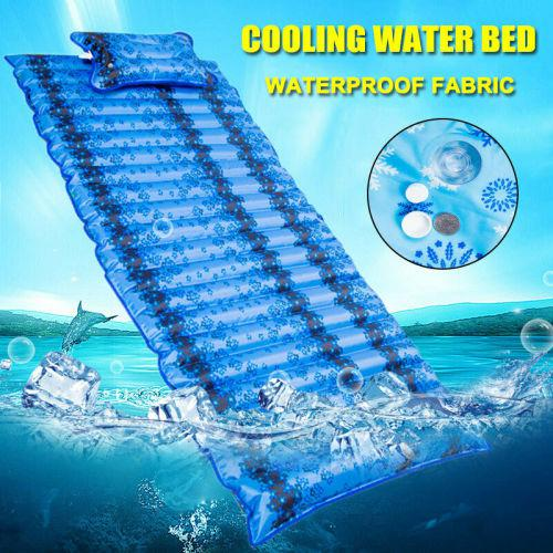 Inflatable cushion foldable outdoor water mattress pad water