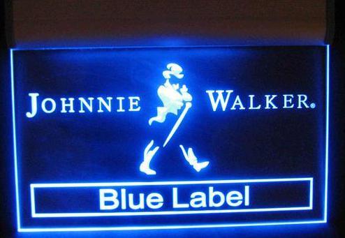 Johnnie walker blue label neon electric bar sign