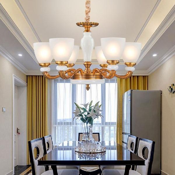 Living room retro zinc alloy restaurant study simple duplex