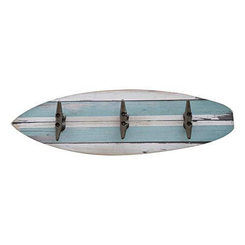Sunbelt gifts 4910-295 surfboard wood wall dcor with hooks,