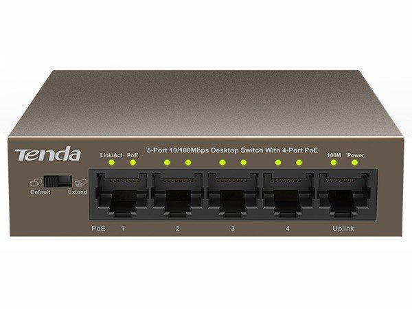 Tenda tef1105p 5-port gigabit desktop switch with 4-port poe