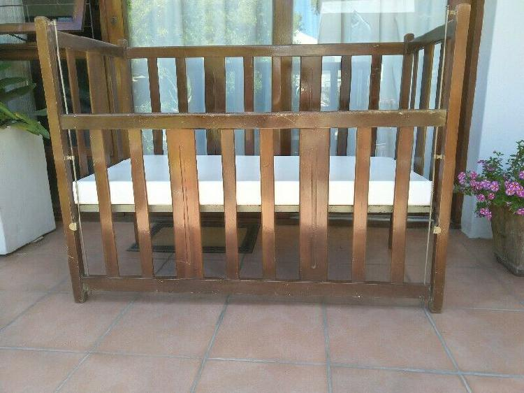 Baby cot. wooden. almost new mattress. bumper included