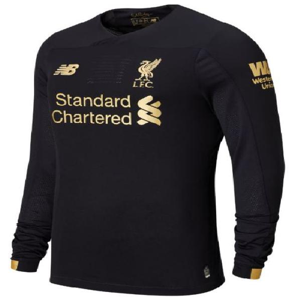 19-20 liverpool home jersey goalkeeper black - large (long