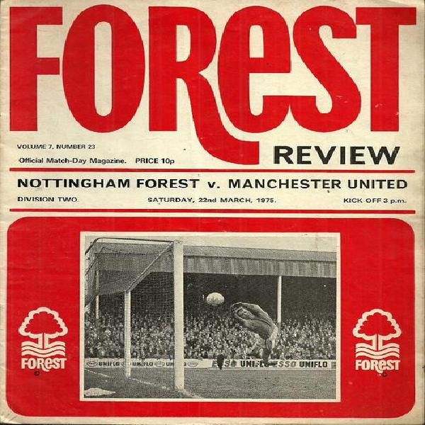 Nottingham forest v manchester united 1974/75 division 2