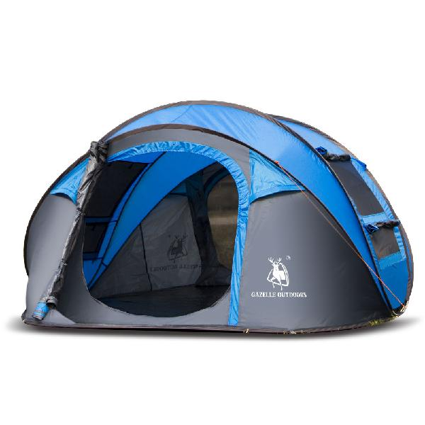 Outdoor 3-4 persons camping tent automatic opening single