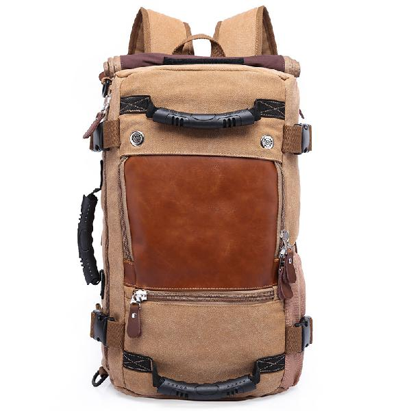 Outdoor backpack canvas hiking backpack large capacity