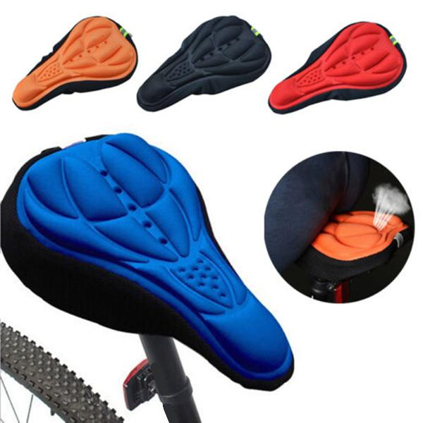 Outdoor cycling 3d bicycle silicone gel pad seat saddle