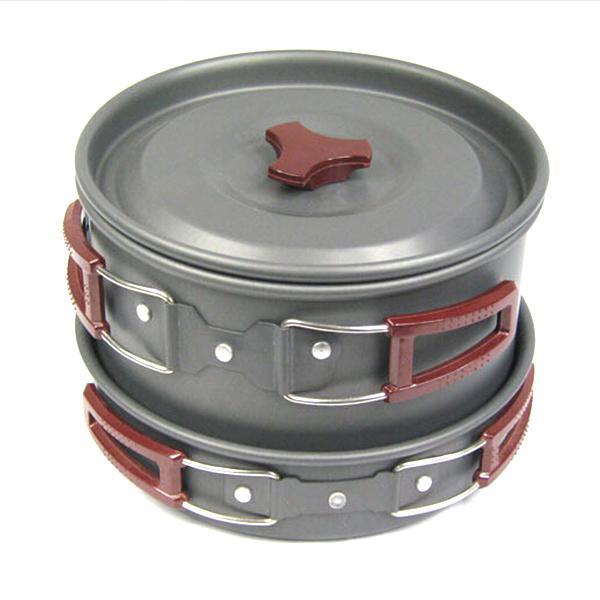 Picnic cookware non-stick bowl pot pan cooking tools set 4-5