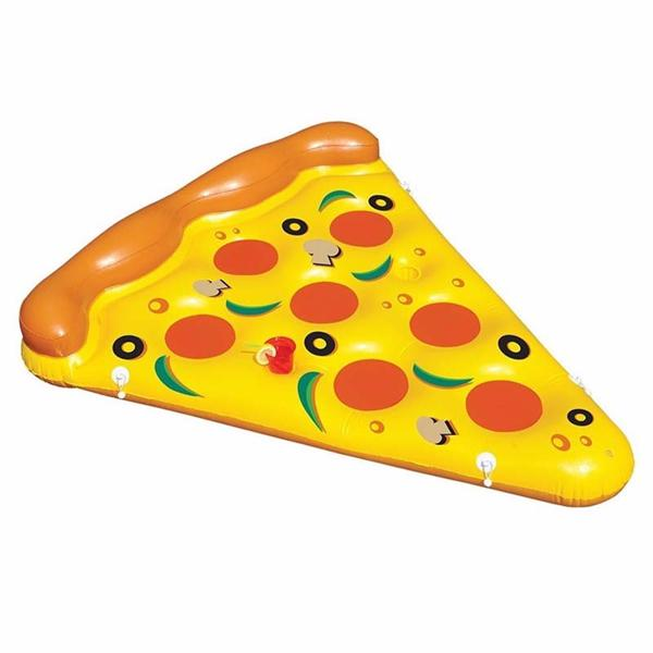 Summer water toy inflatable pizza flotating bed swimming