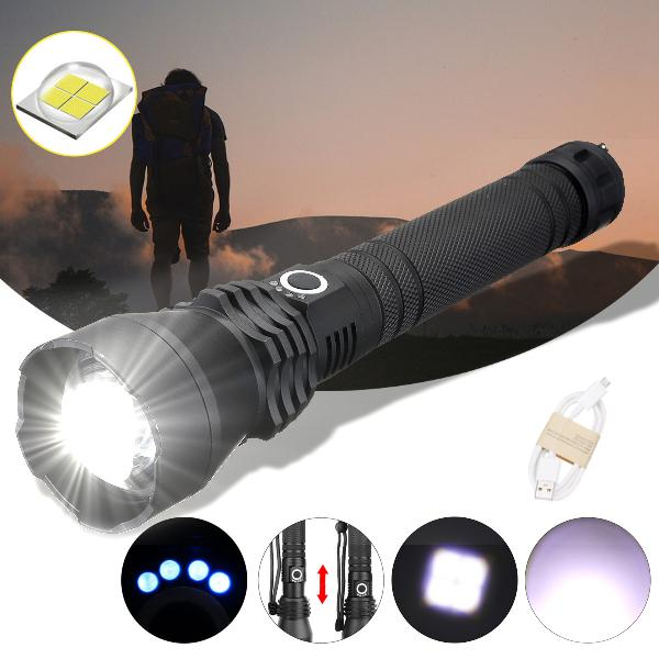 Torch xanes 1285 zoomable usb rechargeable led flashlight