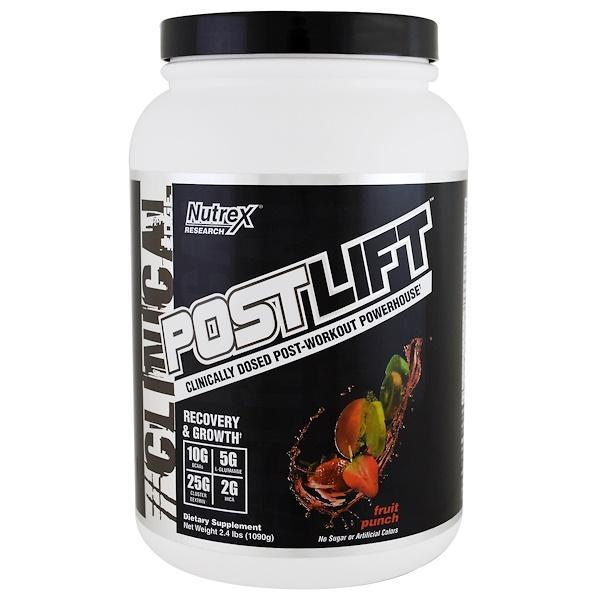 Nutrex research labs, clinical edge, postlift, post-workout