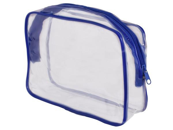 Pvc stationery/cosmetic case - blue (st333e)
