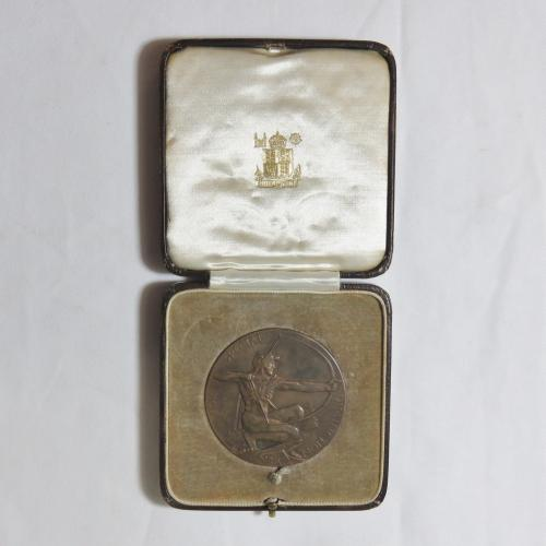 1929 king's trophy competition nra medallion - for special