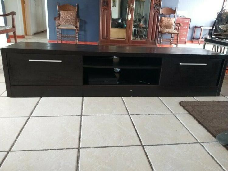 Dark brown wooden tv stand for sale