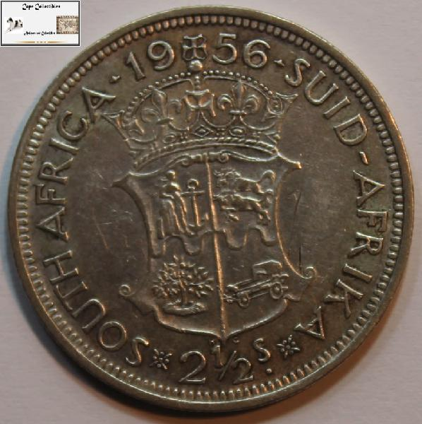 South africa 2 1/2 shilling 1956 coin ef40