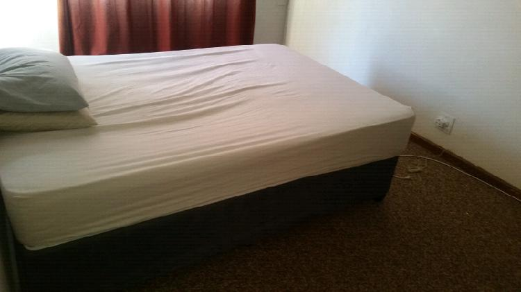 Double bed with base and quality mattress