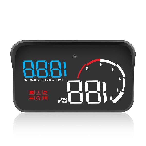 M10 car obd2 hud head up display digital speedometer